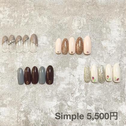 🆕Menu : オフなし🦋初回&5回目迄利用OK!simpleデザイン12種よりお選びください。