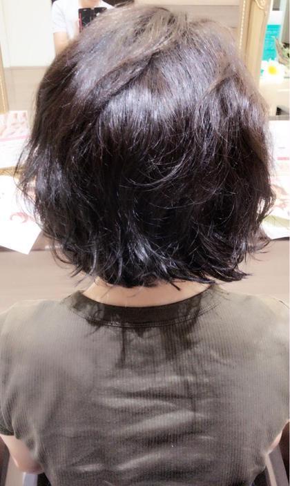 ✨カット&オーガニックカラー&パーマ✨  ストレートヘアから大胆にイメージチェンジさせていただきました✨カラーはブルーアッシュで艶髪に✨ Ash所属・トモツネタクドウのスタイル