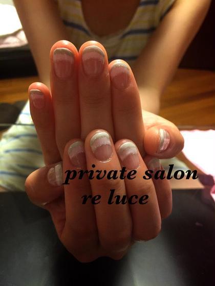 変形してフレンチネイル private salon re  luce所属・Remikaのフォト