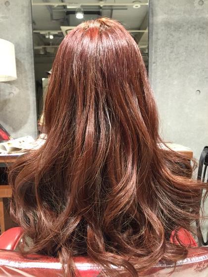 流行りのキュートなピンクブラウンです! HAIR&MAKE EARTH二俣川所属・平賀凌のスタイル