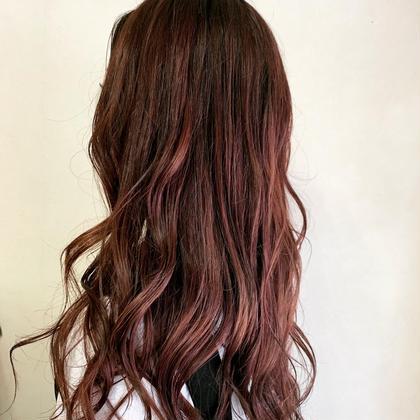 ピンクブラウン P-brands hair kasuga refrain所属・國武 桜のスタイル