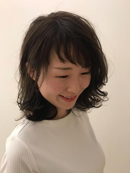 前髪カット+ヘアカラー🌟