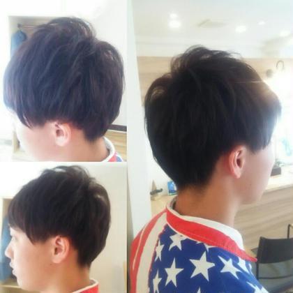 ペタンコになりやすいつむじにパーマを部分的にかけてます。 hair salon a^-to所属・福田 智重子のスタイル