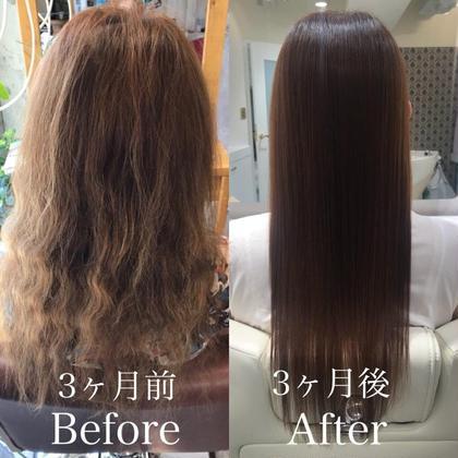 回数を重ねるごとにさらに効果を実感できます♪ 美しい艶髪を目指しましょう! ヘアメイクパッセージ相模大野店所属・大竹彩のフォト