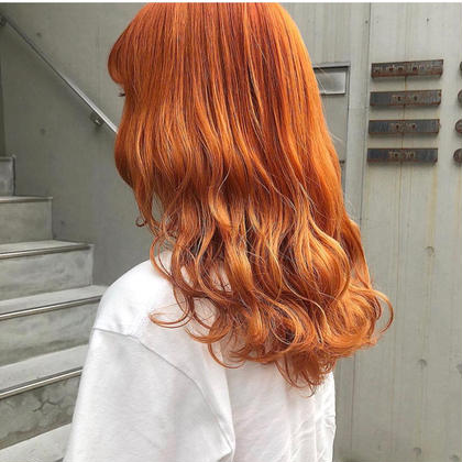 🍊orange color にしたい方限定 🍊ブリーチ+オレンジカラー+CMC内部補修トリートメント