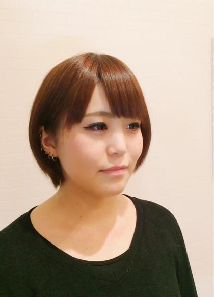 ショートボブ ベージュ系カラー ヘアサロン  Chill~チル~  本厚木所属・武田リュウのスタイル