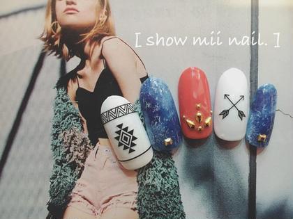 #ジェルネイル #シェラックネイル #5000 #定額制 #summer nail #デニムネイル show mii nail .所属・佐藤絢香のフォト