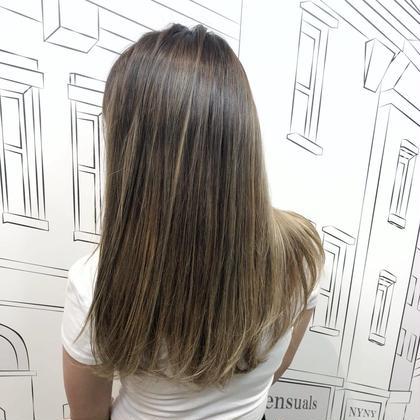 話題の#髪質改善💫外国人風カラー+キラ水
