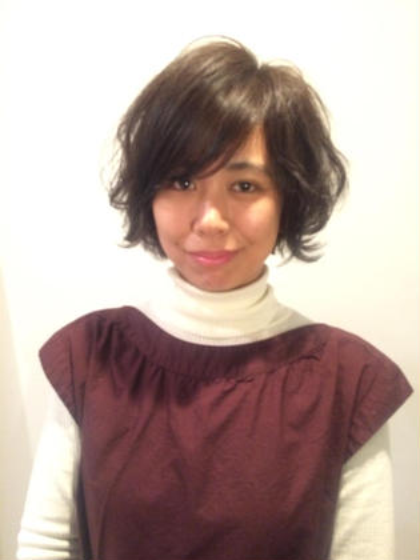 ゆるふわボブ毛先巻がコテで出来る方は簡単に再現できます☺️ 庵樹-anju-所属・富田麻亜子のスタイル