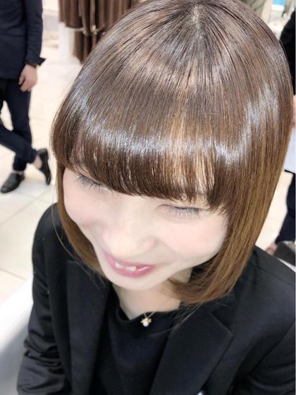 ✨前髪カット&コテ巻きダウンアレンジ✨