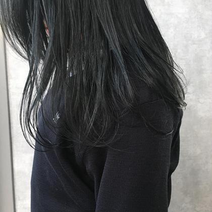 カラー ロング ブルーブラック