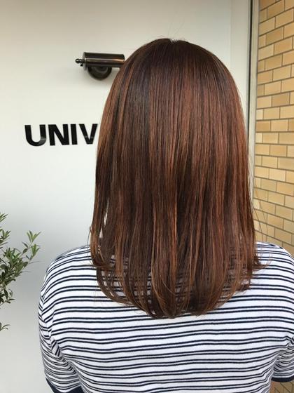 ミディアム ⭐️髪の毛の痛みが気になる方におすすめメニュー⭐️  トリートメントの浸透力を上げてくれる超音波ケアプロをあててしっかり髪を補修❤️  枝毛! 切れ毛! 広がりやすい!  梅雨の湿気によるまとまらない髪の毛もしっかりケアでサラツヤヘアに☘️