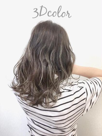 #アオハル【抜け感とこなれ感】💐外国人風3Dカラー(ハイライト、ローライト)+髪質に合わせて選べるトリートメント💐