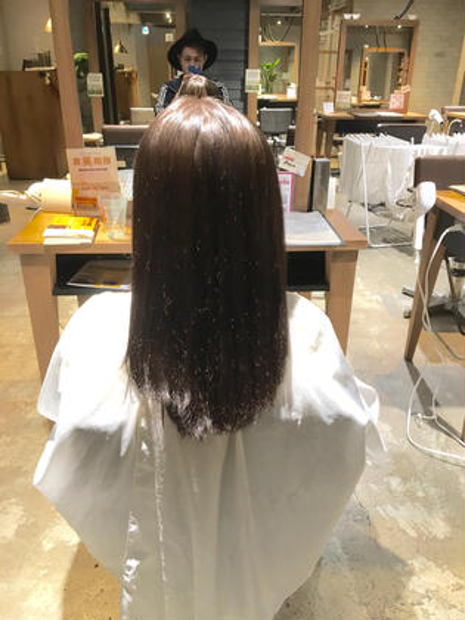 縮毛矯正+カラー Leetwice阿倍野店所属・谷本賢亮のスタイル
