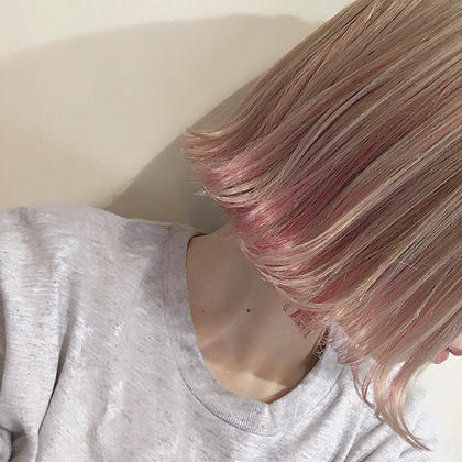 ☆ピンクインナーカラー インナーカラー  ¥2000〜 salon de MiLK所属・園田友梨香のスタイル
