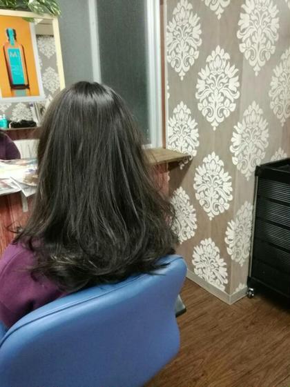 前髪カット+うる艶全体カラー +TOKIOインカラミトリートメント [ロング料金なし]