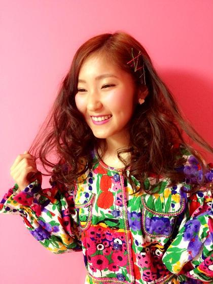 イメチェンカラー♥  巻き巻きかわいい LiNA Beauty Garden所属・加藤美果のスタイル
