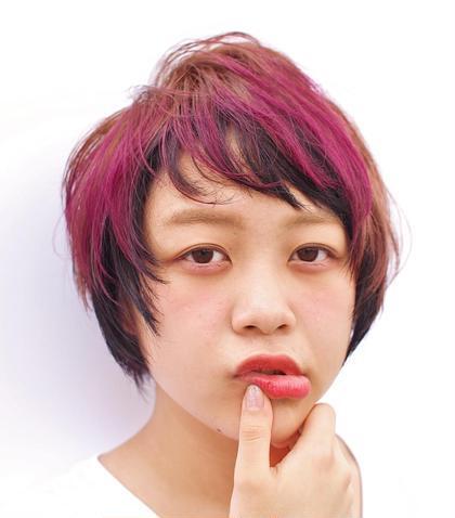 前髪にアクセントカラーでオリジナリティーを出しました hair studio menos所属・喜多村拓矢のスタイル