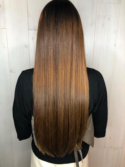 《話題の髪質改善treatment》カット+髪質改善極潤カラー+treatment