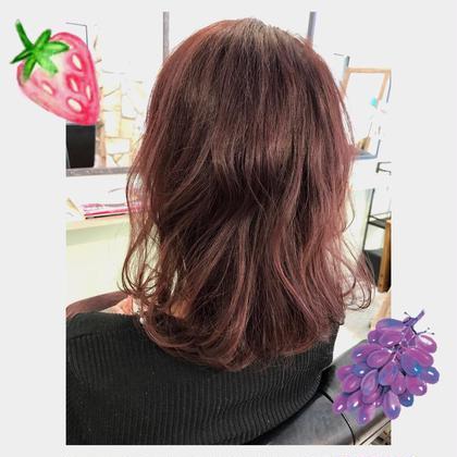 1 color で ベリーピンク ♩ Rienge立川北口店所属・金子奈未のスタイル