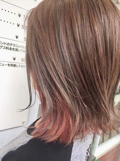 カラー ミディアム ブリーチで作る☆インナーカラー!
