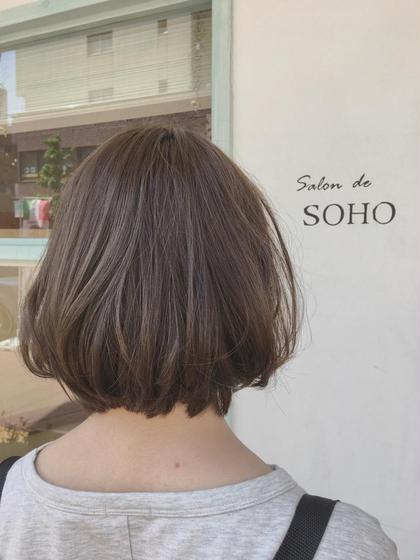 カラー ミディアム ◇◆◇◆ぐれーじゅ◇◆◇◆   今人気グレージュです◎!  透明感抜群!ブリーチなしです(^^)  髪の毛を痛ませず綺麗なカラーにしましょう♪♪