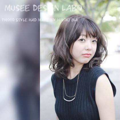 艶、透明感のあるグレーで染めたい方に。 musee design labo所属・伊奈大希のスタイル