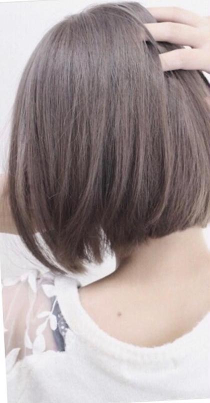 【痛ませない!外国人のような髪へ】カット+ファイバープレックスカラー(全体フルカラー)+ヘアケミストMOトリートメント