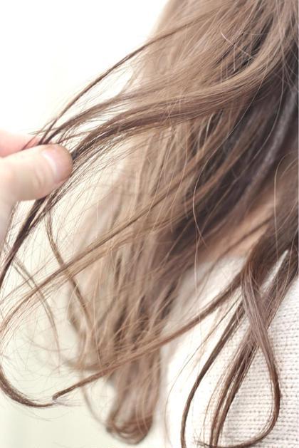 """【✨""""柔らかく光に透ける髪色へ""""✨】シークレットハイライト+フルカラー✨"""