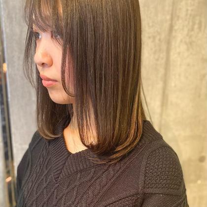 前髪カット & 前髪ストレート&3stepトリートメント¥4000