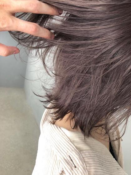 もともと少し明るい髪にブリーチを1回してラベンダー系の色を入れました! produce相模大野店所属・武藤篤弥のスタイル