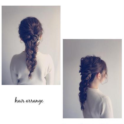 簡単ヘアアレンジ ねじって三つ編みしての組み合わせ ご自身で出来るヘアアレンジ教えます^_^ rojina所属・オカダミツルのスタイル