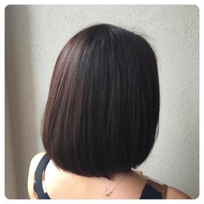 カット×カラー ツヤツヤスタイルを作り上げるには カラーもモチロン大切ですが カットも大切です✂︎ 傷ませないなじませカット✂︎ Hair Resort THE AMAN GIRL所属・オグラタカヒロのスタイル