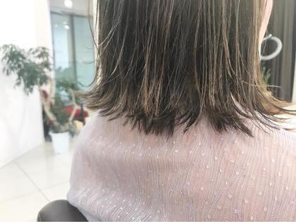 きりっぱなしボブです☆可愛い髪型にはカット技術が必要です☆外ハネに可愛くスタイリング&巻き方もレクチャーさせていただきます☆カットに自信あります☆安心してお任せください☆ SAKURA所属・SAKURAomotesandoのスタイル