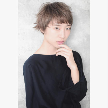 カラー ショート Contemporary mode  #NAKAIstyle #contemporary #mode #veryshort #sprushcurl #gregecolor #hair