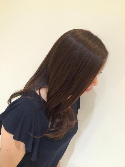 毛先のパサパサをカットして人気色モーブアッシュでうるつや髪に\( ¨̮ )/ amiliea by ZA/ZA所属・越百合香のスタイル