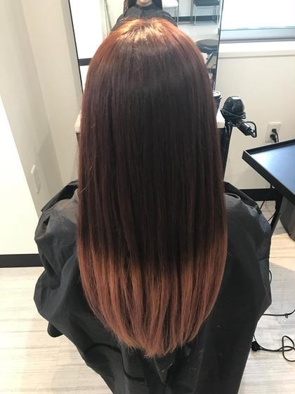 グラデーションカラー✂︎ ベースはピンクブラウン、毛先はブリーチonカラーでピンクベージュに♡ Hair Salon Re(ヘアサロン アールイー)所属・今村亜未のスタイル