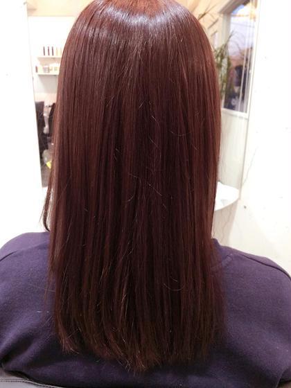 色味の強い8トーンのピンクアッシュ UP-PU  ART   HAIR所属・前田菜津美のスタイル