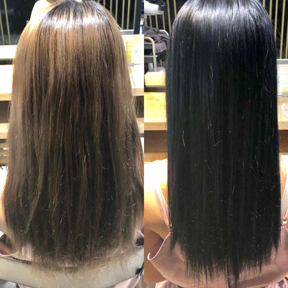 バサバサ髪をうる艶ブルーブラックにチェンジ⭐️ dydi表参道所属・アレンジ二スト/杉山美羽のスタイル