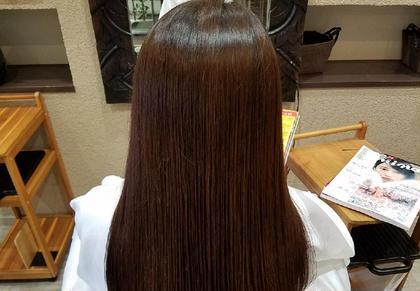 カット+カラー+縮毛矯正+うるつやトリートメント⭐️オススメNO1⭐️しっとりまとまるウル艶髪へ⭐️《初回限定》
