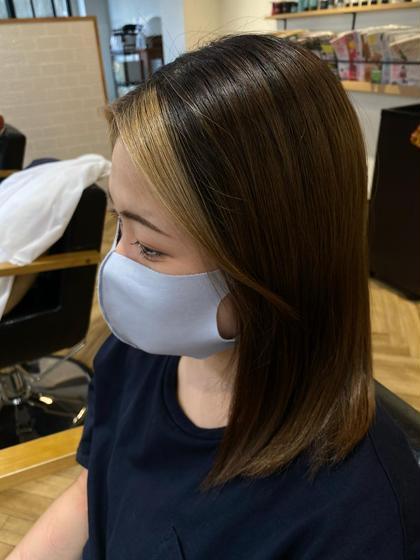🌈トレンドカラー🌈顔周りハイライト、フェイスフレーミングハイライト+デザインカラー+毛先カット