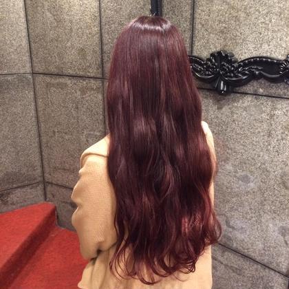 赤系の色だとベースにもよりますが、綺麗に発色します☺️ 根上萌実のスタイル