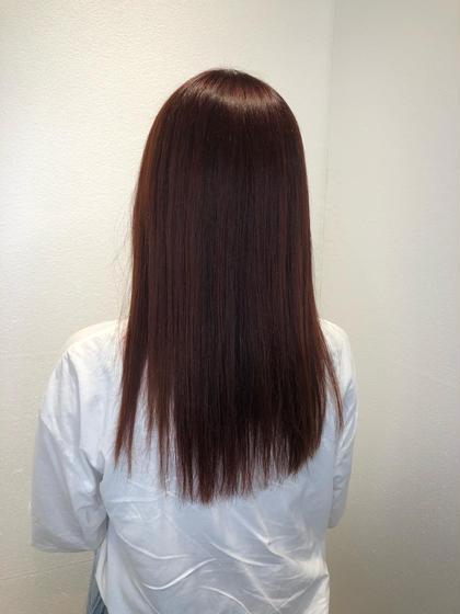 カット✂︎+縮毛矯正+カラー +Ajトリートメント💕