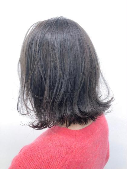 💗黒髪カラー+オリジナルトリートメント💗(黒染め使用も可能❗️)暗色カラーで落ち着いたカラーに☺️