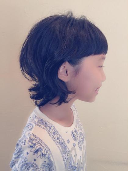 前髪ガッツリ短く クセを生かしたスタイルです☆ Cubiculum所属・ヤノナオミのスタイル