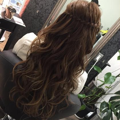 ウォーターフォールアレンジ! ヘアセットも得意です^_^ Hair Grande Seeek所属・MatsubaraYasuyukiのスタイル