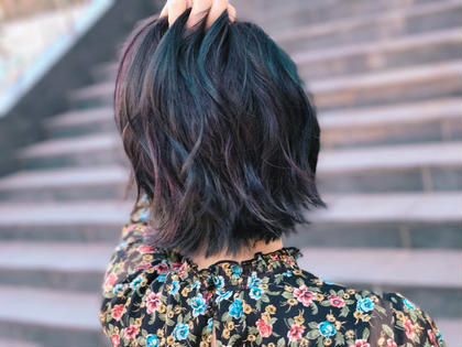 カラー ミディアム ユニコーンカラー 緑紫ブルーピンクの4しゅるい!