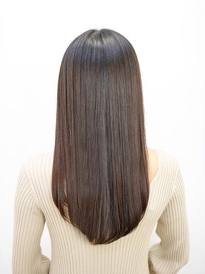 【ツヤ髪☆プレミアム】縮毛矯正+カット+潤い艶フルカラー+2stepトリートメント