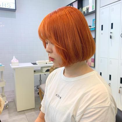 カラー ショート ヘアアレンジ