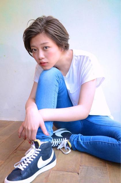 その他 カラー ショート パーマ ヘアアレンジ shooting✔️ . stylishなshort hair推し✯ . . . #NAKAIstyle #ショートヘア